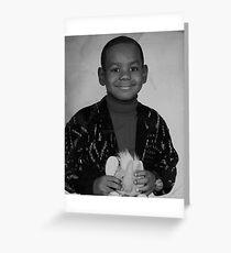LeBron James (Kid BW) Greeting Card