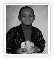 LeBron James (Kid BW) Sticker