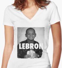 Lebron James (LeBron) Women's Fitted V-Neck T-Shirt