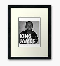 Lebron James (KING JAMES) Framed Print