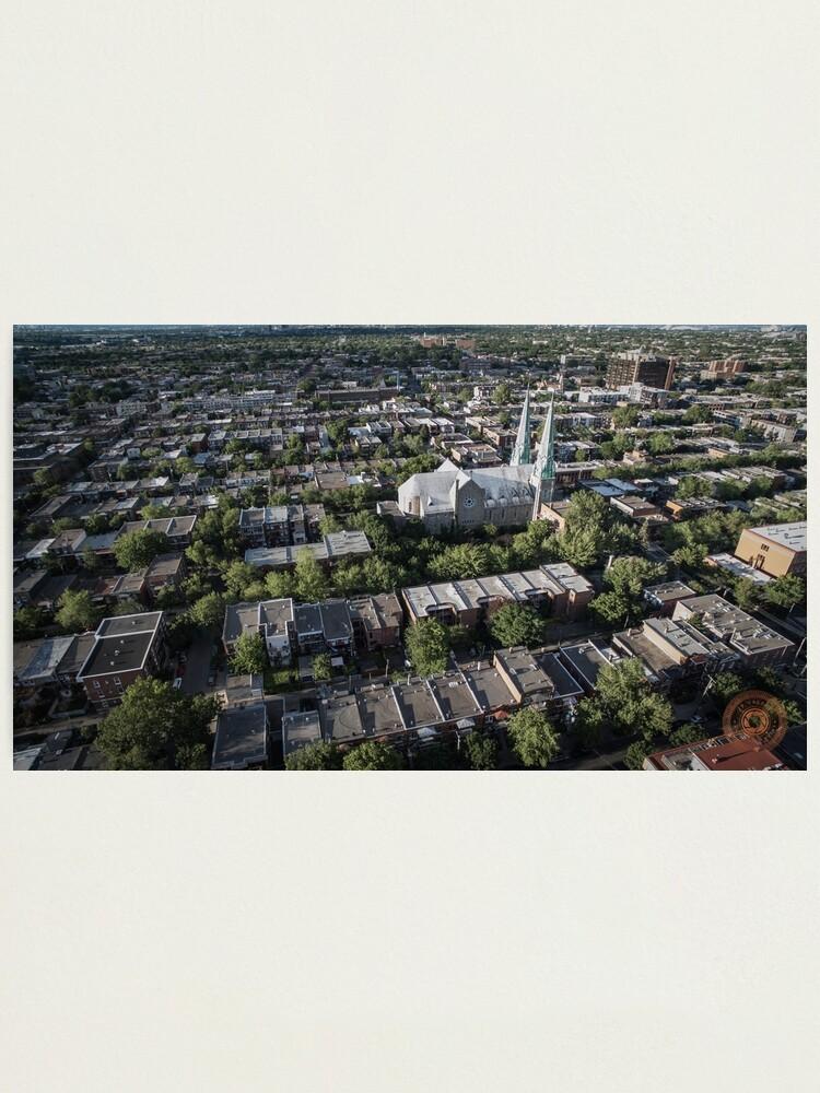 Alternate view of Villeray - Montréal, QC - Drone Photographic Print