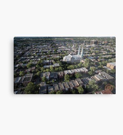 Villeray - Montréal, QC - Drone Metal Print