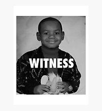 LeBron James (Witness) Photographic Print