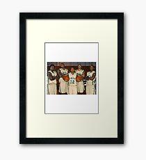 LeBron James (High School Team) Framed Print