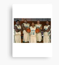 LeBron James (High School Team) Canvas Print