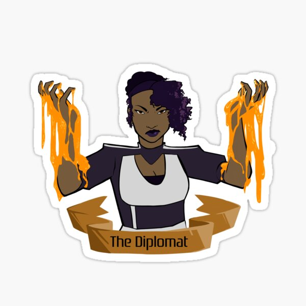 Diplomat Crest Sticker