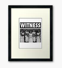 LeBron James (High School Witness) Framed Print