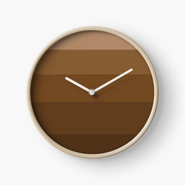 Med Brown Gradient Clock