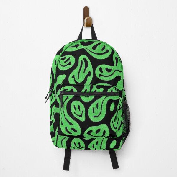 Trippy Green Smileys  Backpack