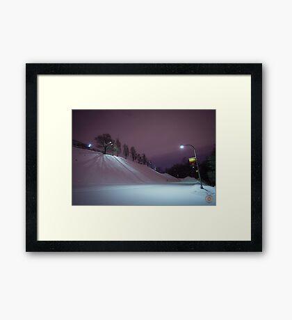 Purple Night - Oratoire St Joseph Montréal Framed Print