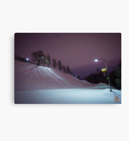 Purple Night - Oratoire St Joseph Montréal Canvas Print