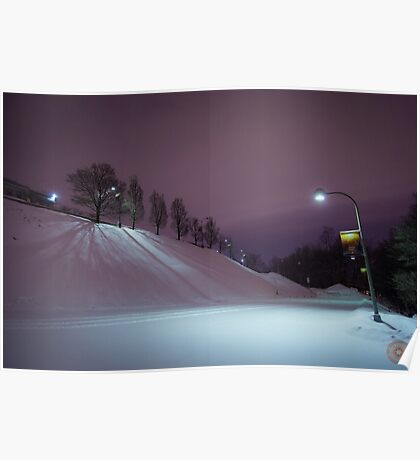 Purple Night - Oratoire St Joseph Montréal Poster