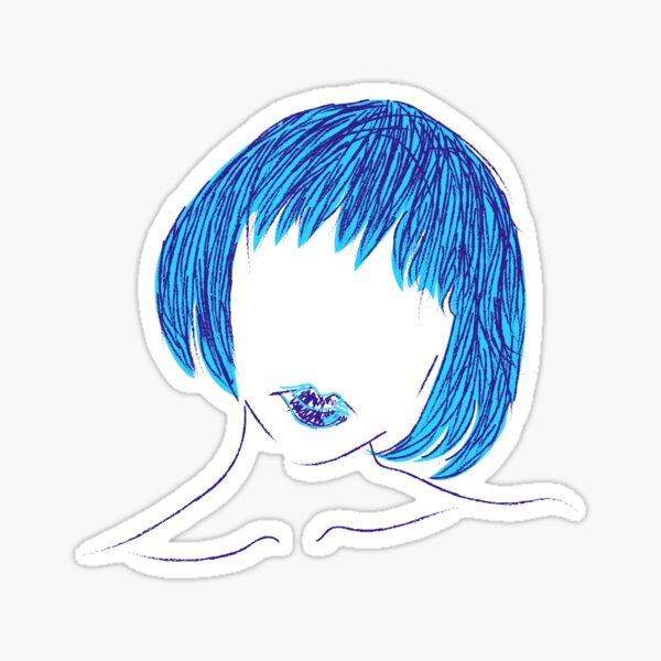 Blue Is The Hottest Color Sticker