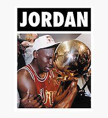 Michael Jordan (Championship Trophy) Photographic Print