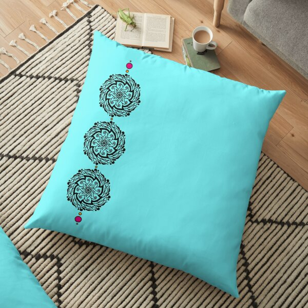 Decorative Floral Strings Floor Pillow
