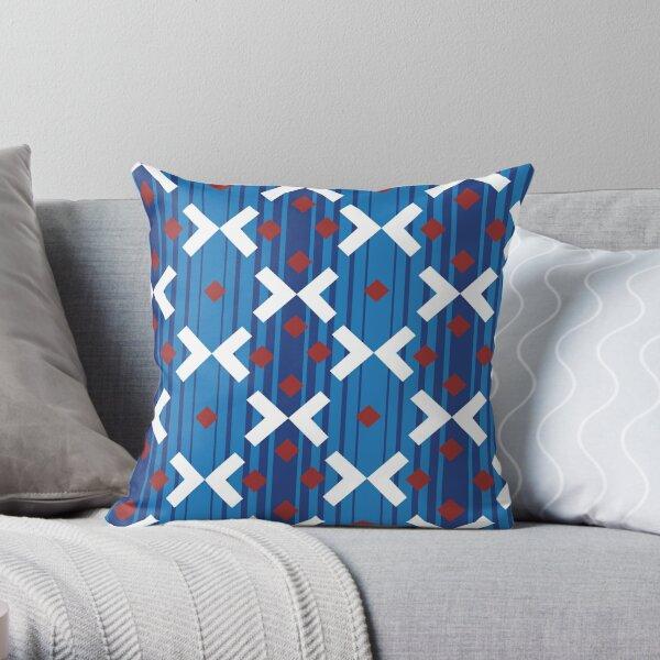 Victoria line moquette (New) Throw Pillow