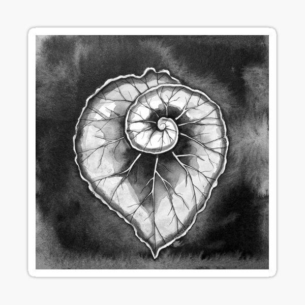 Begonia Leaf Drawing Sticker