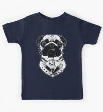 Tattooed Dog - Pug Kids Tee