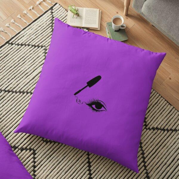 Mascara and eyebrows Floor Pillow