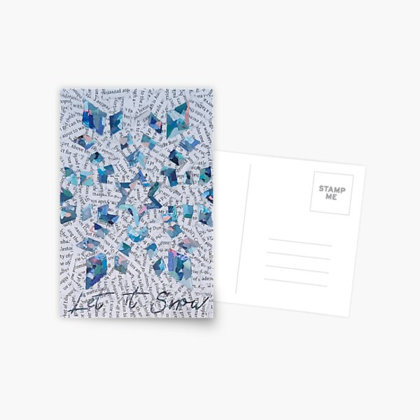 Blue Snowflake - Christmas Collection Postcard