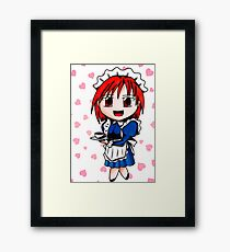 chibi maid Framed Print