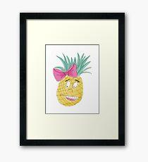 Pastel Purple Pineapple Framed Print