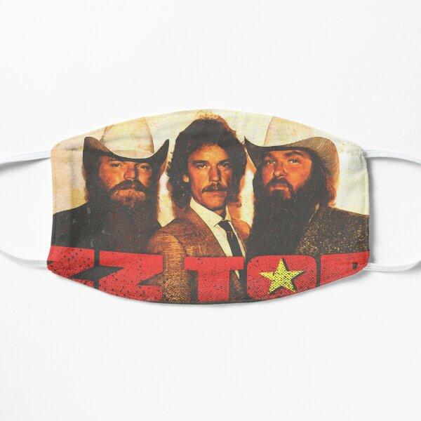 zz top band colorful grunge vintage retro style tshirt design Mask