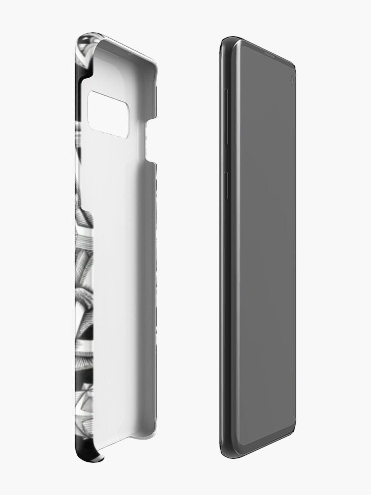 Alternative Ansicht von MC Escher Halbton Hülle & Klebefolie für Samsung Galaxy