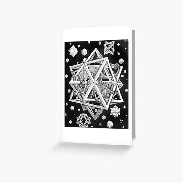 MC Escher Halftone Greeting Card