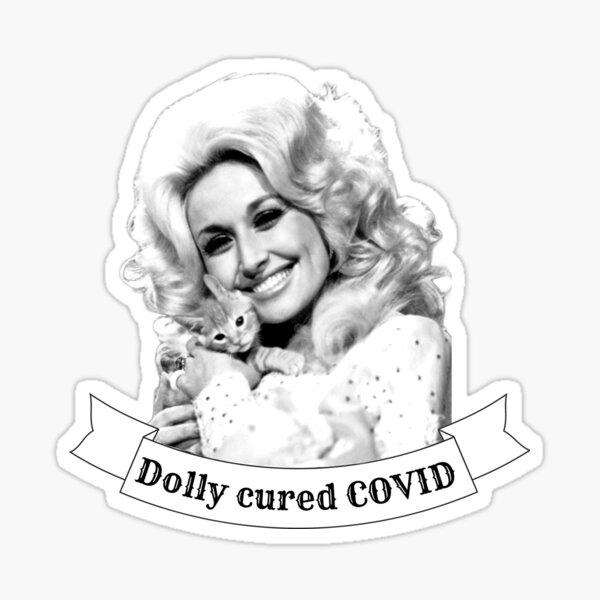 Dolly Parton Covid Heilung Sticker