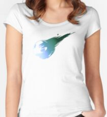 Final Fantasy 7 logo Women's Fitted Scoop T-Shirt