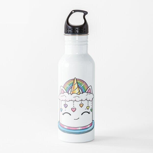 moriah elizabeth unicorn rainbow cake Water Bottle
