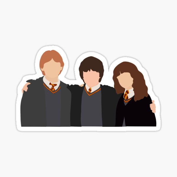 Ron, Harry, & Hermionie Sticker
