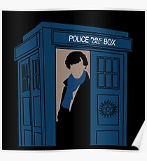 Supernatural, Doctor Who and Sherlock  Poster