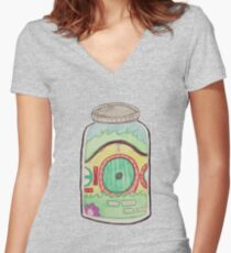 Hobbit in a Jar Women's Fitted V-Neck T-Shirt