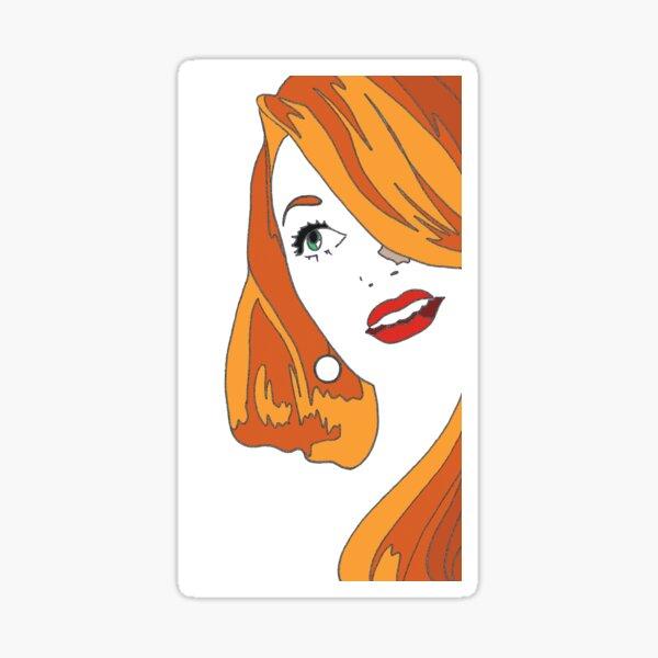 Redhead Cartoon Sticker