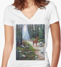 White Tail Creek Women's Fitted V-Neck T-Shirt