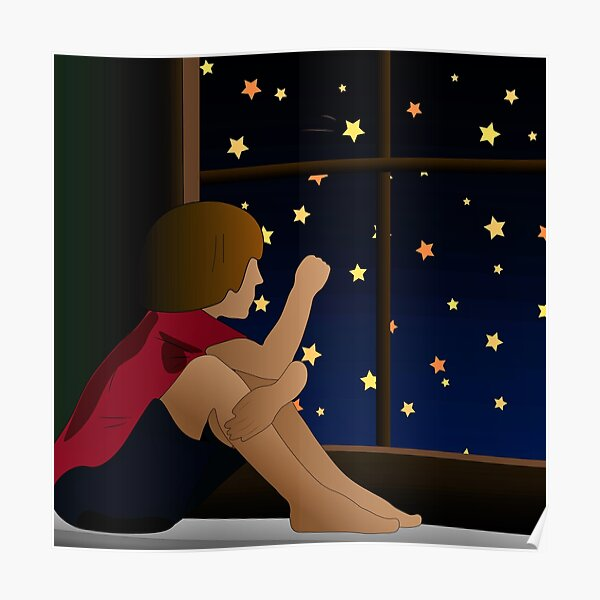 The Boy Watching The Stars Poster