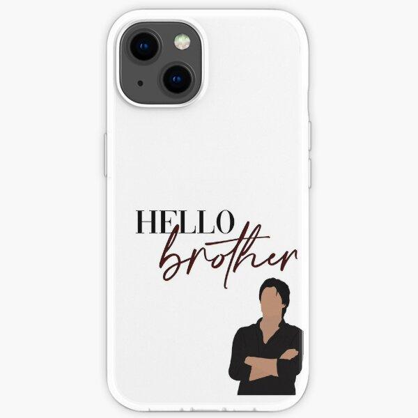 Bonjour frère Damon Salvatore Vampire Diaries Coque souple iPhone