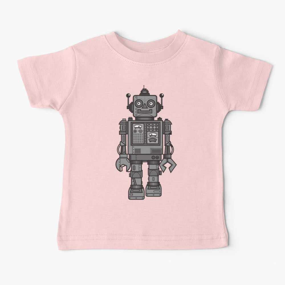 Vintage Robot Baby T-Shirt