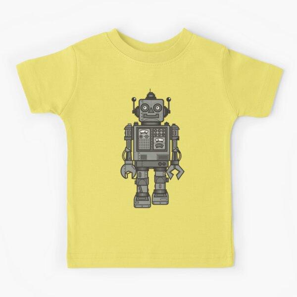 Weinlese-Roboter Kinder T-Shirt