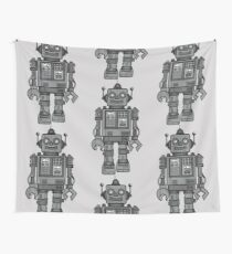 Vintage Robot Wall Tapestry