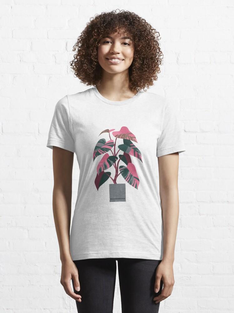 T-shirt essentiel ''Princesse rose Philodendron': autre vue