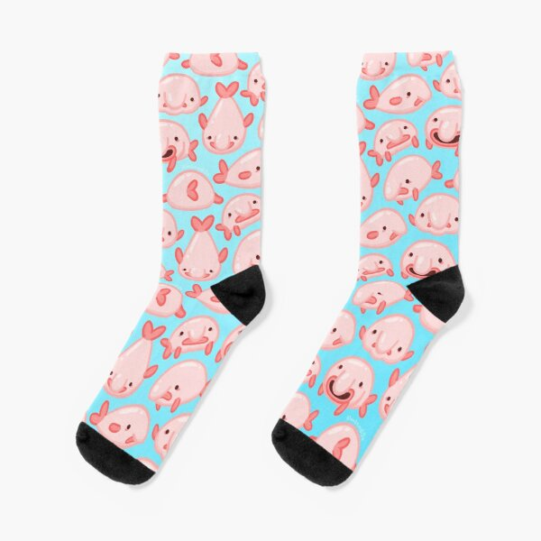 Blobfish Pattern Socks