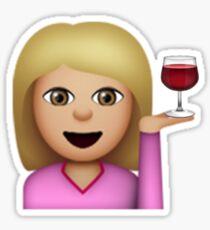 Wine Hair Toss Emoji (Blonde) Sticker