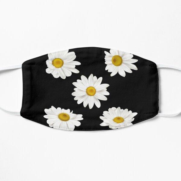 white chamomile flowers Flat Mask