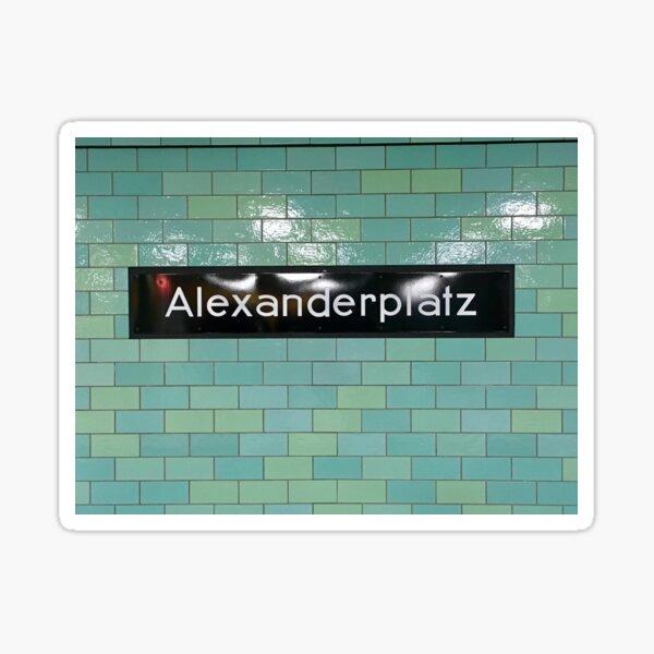Alexanderplatz U-Bahn Sticker