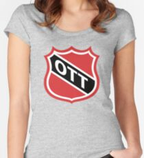 Ottawa Old School Crest Women's Fitted Scoop T-Shirt