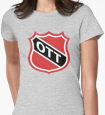 Ottawa Old School Crest Women's Fitted T-Shirt