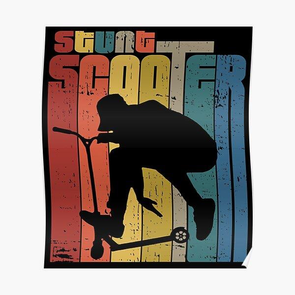 Scooter acrobatique rétro Poster